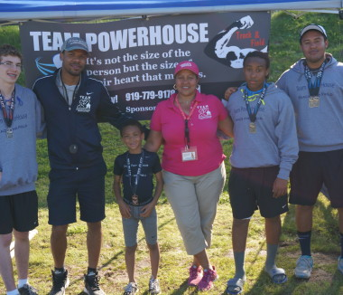 Team Powerhouse wearin custom sports apparel Garner NC wearing custom sports apparel